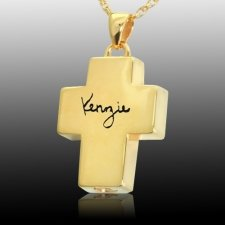 Signature Cross Cremation Pendant IV