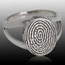 Signet Ring Print 14k White Gold Keepsakes