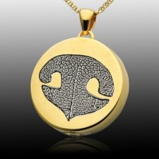 Signet Nose 14k Gold Print Cremation Keepsakes