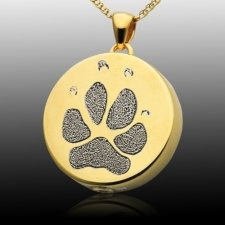 Signet Paw 14k Gold Print Cremation Keepsakes