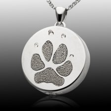 Signet Paw 14k White Gold Print Cremation Keepsakes