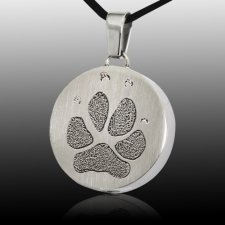 Signet Paw Stainless Print Cremation Keepsakes