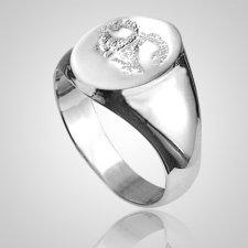 Pet Signet Ring Print White Gold Keepsake