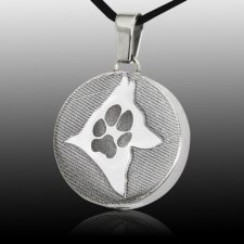 Signet Silhouette Paw Stainless Print Cremation Keepsake