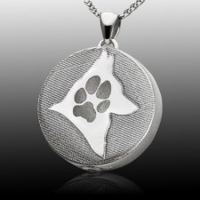 Signet Silhouette Paw Sterling Print Cremation Keepsake