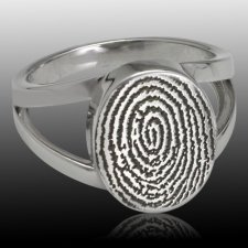 Signet Sterling Cremation Print Ring