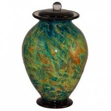 Silk Trellis Glass Cremation Urn