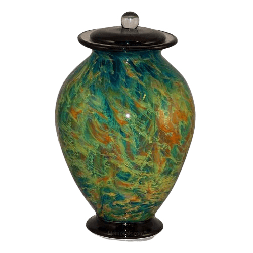 Silk Trellis Glass Cremation Urn