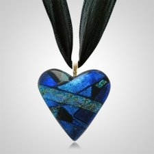 Silver Blue Heart Ashes Pendants