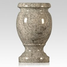 Silver Cloud Granite Vase