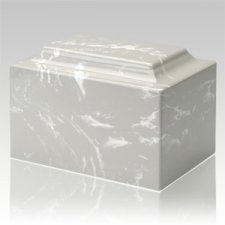 Silver Gray Marble Keepsake Cremation Urn