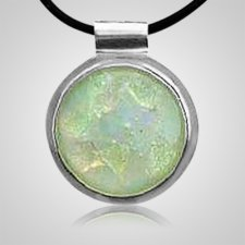Silver Round Opal Hair Pendant II