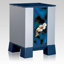 Silver & Cherry Medium Cremation Urn