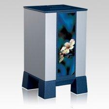 Silver & Cherry Cremation Urn