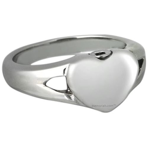 Simple Heart Cremation Ring