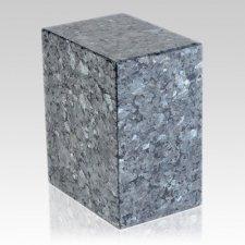 Simplic Blue Pearl Stone Pet Urn