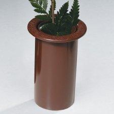 Simplicity Bronze Cemetery Vase