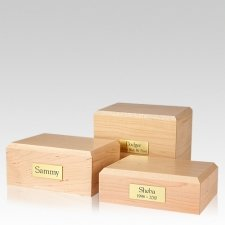 Simplicity Maple Pet Cremation Urns