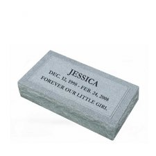 Simplicity Medium Granite Pet Grave Marker