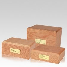 Simplicity Oak Pet Cremation Urns
