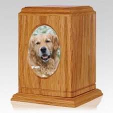 Simplicity Oak Photo Pet Urn