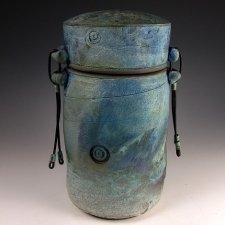 Simplicity Raku Cremation Urn