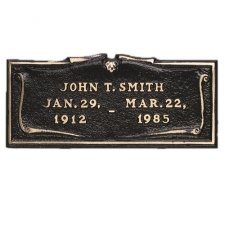 Simplicity Scroll Niche Plaque