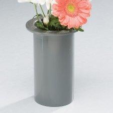 Simplicity Silver Cemetery Vase