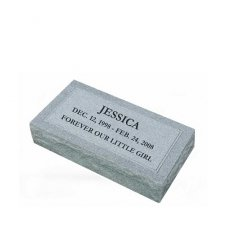 Simplicity Small Granite Pet Grave Marker