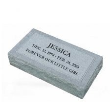 Simplicity X Large Granite Pet Grave Marker
