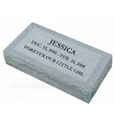 Simplicity XX Large Granite Pet Grave Marker