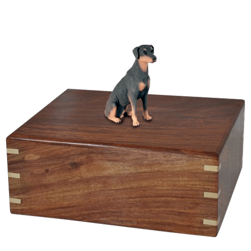 Sitting Doberman Doggy Urns