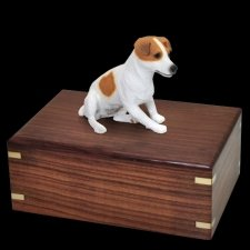 Sitting Jack Russell Doggy Urns