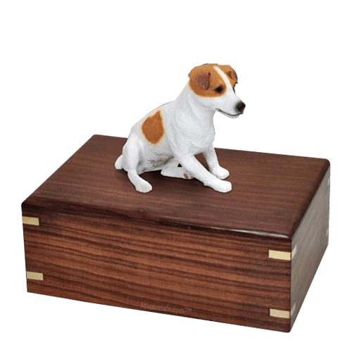 Sitting Jack Russell Large Doggy Urn