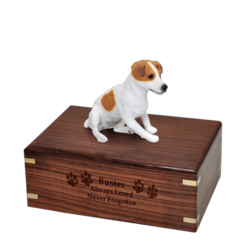Sitting Jack Russell Medium Doggy Urn