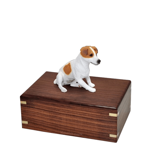 Sitting Jack Russell Small Doggy Urn