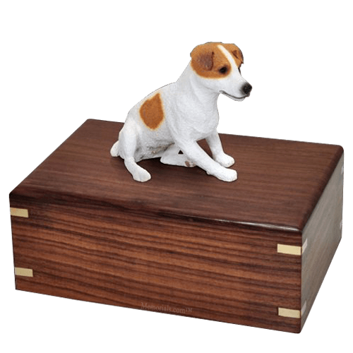 Sitting Jack Russell X-Large Doggy Urn