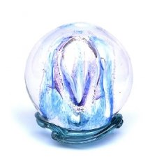 Sky Blue & Purple Embrace Medium Memory Glass Keepsake
