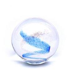 Sky Blue Swirl Medium Memory Glass Keepsake