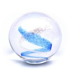 Sky Blue Swirl Memory Glass Keepsake