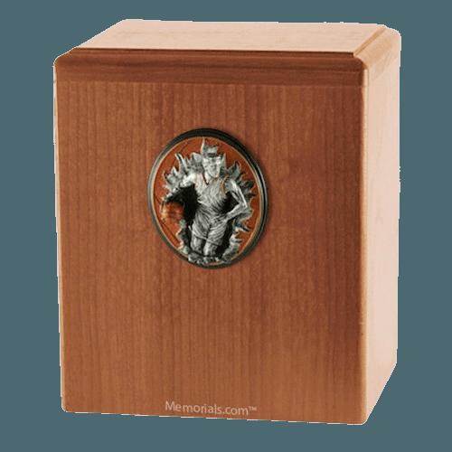 Slam Dunk Light Cherry Cremation Urn