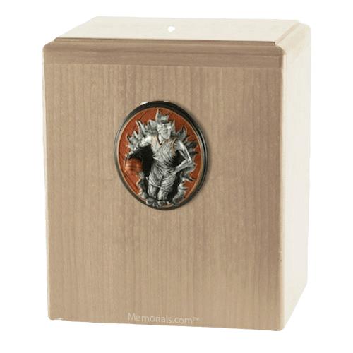Slam Dunk Maple Cremation Urn