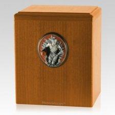 Slam Dunk Oak Cremation Urn