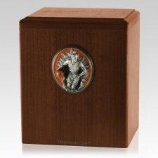 Slam Dunk Walnut Cremation Urn