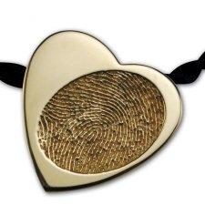 Slider Heart 14k Gold Print Keepsake