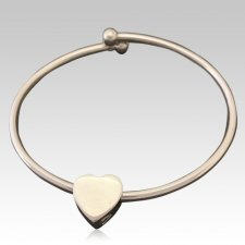 Slider Heart Ash Cremation Bracelet