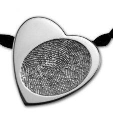 Slider Heart Silver Print Keepsake