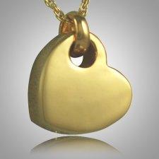 Sideways Heart Keepsake Pendant VI