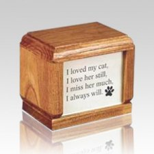 Hardwood Small Pet Wood Urn
