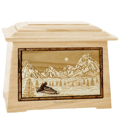 Snowmobile Maple Aristocrat Cremation Urn